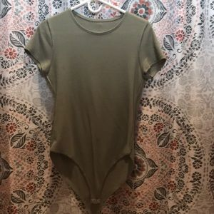 A green bodysuit from forever 21